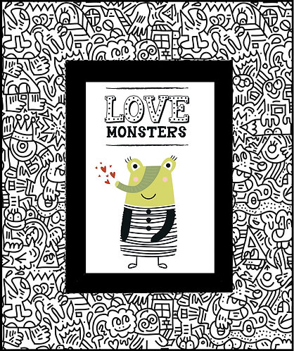 Monster Doodle_Love Monsters 600 X 480 X 12mm