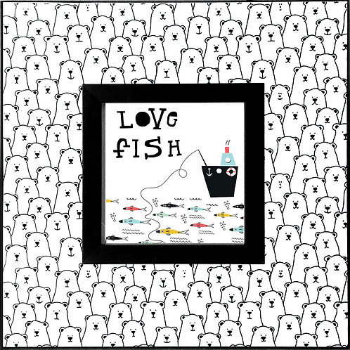 Polar Bear_Love Fish    400 X 400 X 12mm