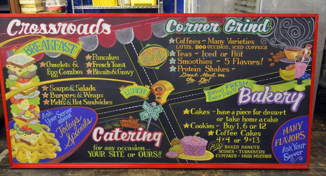 Crossroads Cafe Menu Board