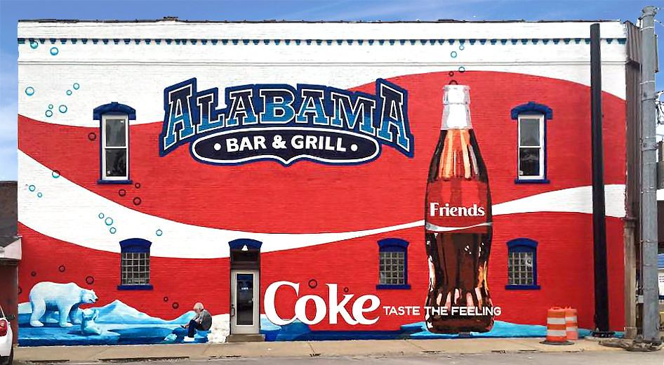 Coke Alabama Mural