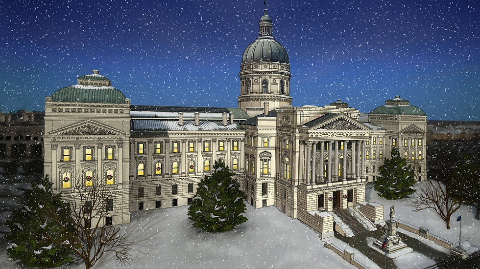 The Indiana Statehouse (Print)