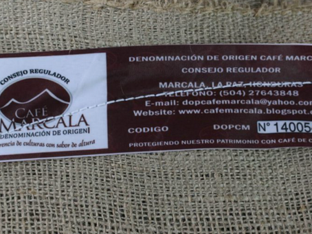 Marcala, Honduran coffee with a protected denomination of origin.