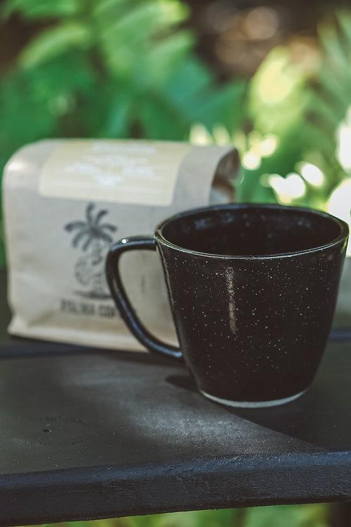 Coffee Gift Set / Handmade ceramic mug + 8oz bag of Cumbia