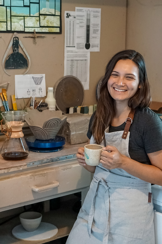 Amanda Govic handmade pottery Chemex Palma Coffee gift set