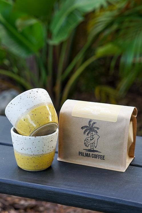 Coffee Gift Set / Handmade 4 oz Espresso mugs
