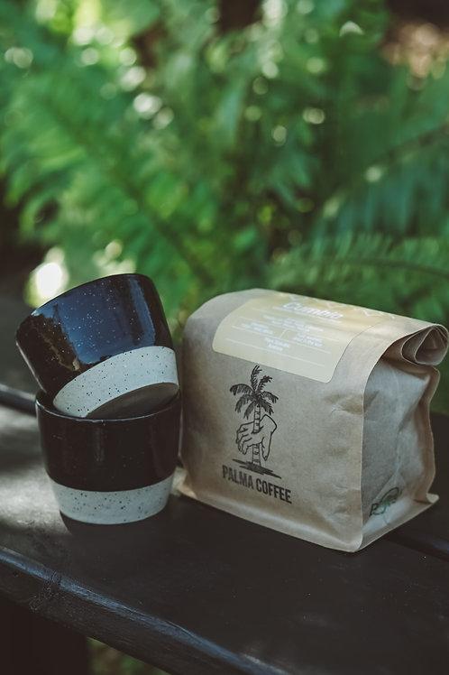Coffee Gift Set / Handmade Pair of 4 oz Espresso mugs