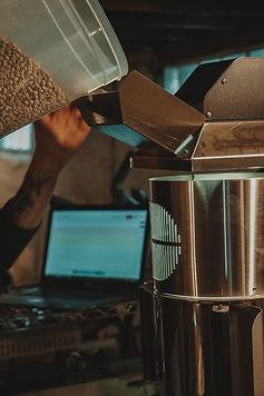loading coffee into artisan xe.JPG