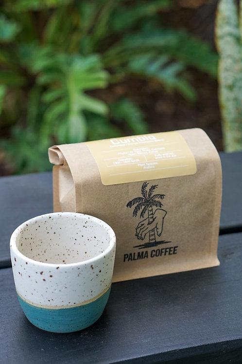 Coffee Gift Set / Handmade 4 oz Espresso mug