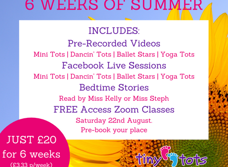 6 Weeks of Summer Programme!
