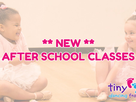 After School Classes announced for September!