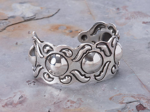Sterling Silver Reprousse Cuff
