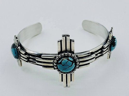 Zia bracelet Sterling silver Turquoise