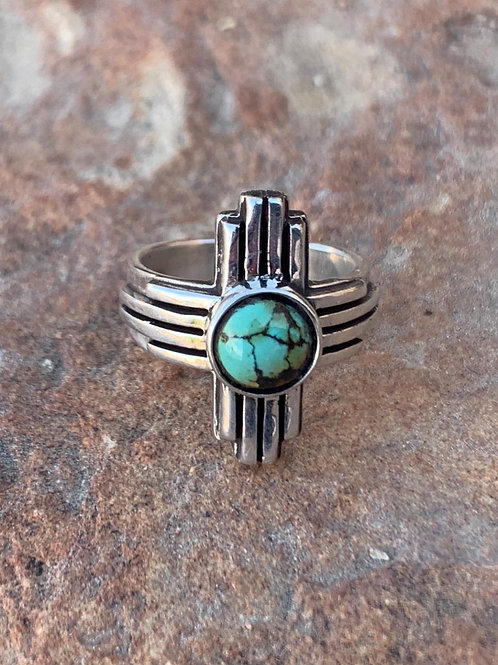 Zia Ring with turquoise