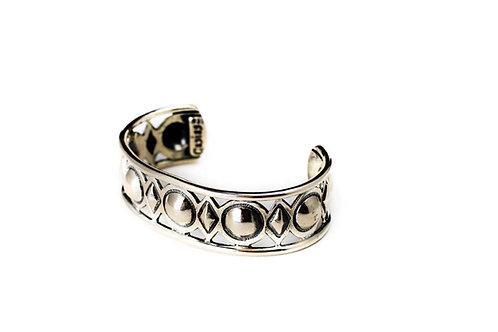 Diamond Domed cuff Sterling Silver