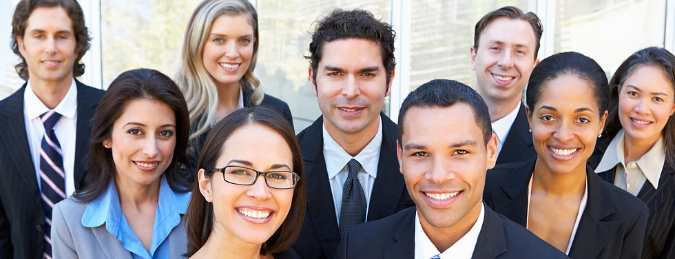 Portrait Of Business Team Outside Office