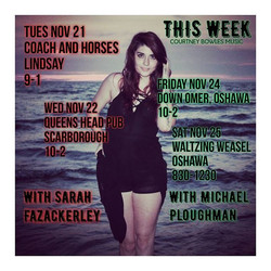 This week's shows 😍🎶 So Excited! _) #livemusic #musician #girlpower #canadiansinger #canadianmusic