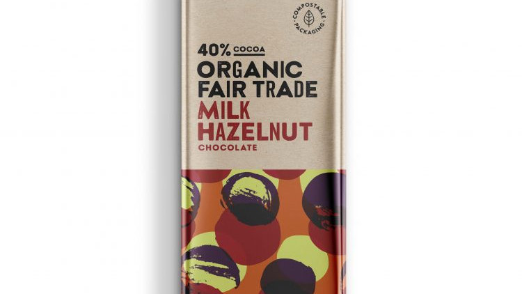 Organic 40% milk hazelnut chocolate-100g