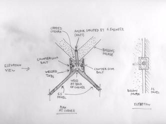 corner study sketch