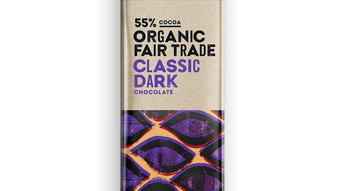 Organic 55% classic dark chocolate-200g