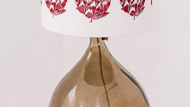 Artichoke head lino print shade- Rubine Red