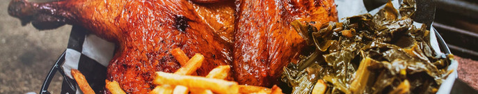 Smoked half-chicken...it takes five hours to make!