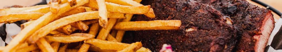 Cherry Smoked Pork Ribs & Hand Cut Fries