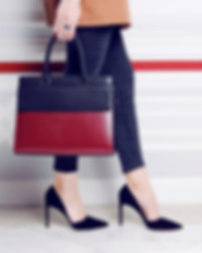 Canva - Close up legs fashion woman in h
