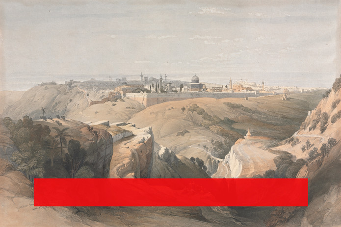 القدس من جبل الزيتون.  Jerusalem from the Mount of Olives.