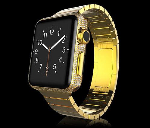 24K Gold Plated Swarovski Legend Apple Watch