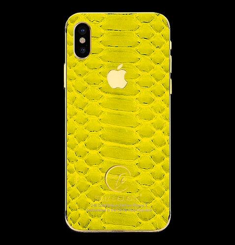 24K Gold Yellow Python Edition iPhone X