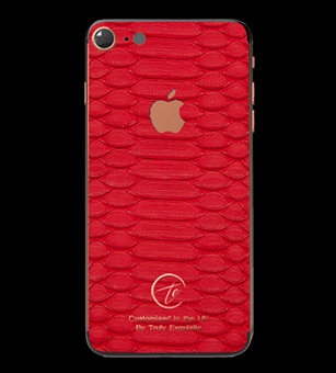 18K Rose Gold Red Python Edition iPhone 7