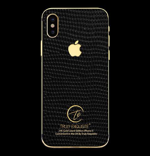 24K Gold Black Lizard Edition iPhone X