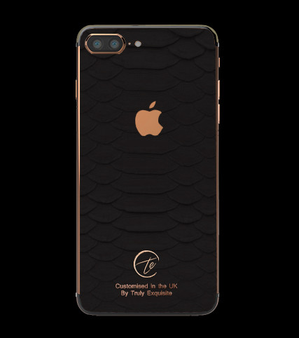 iphone 7 black and gold. 18k rose gold black python iphone 7 plus edition (5.5\ iphone and u