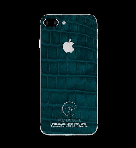 Platinum Turquoise Croco Edition iPhone 8 Plus