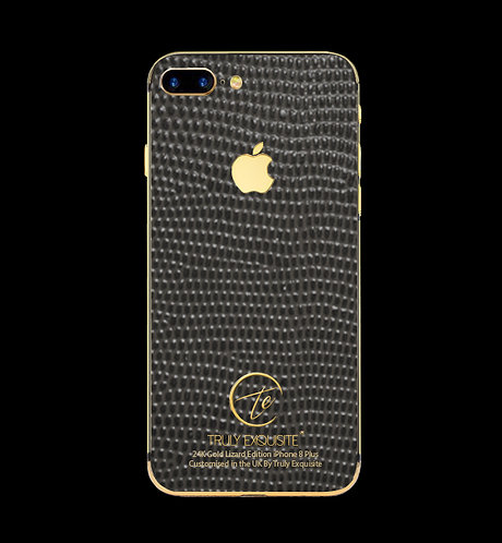 24K Gold Grey Lizard Edition iPhone 8 Plus