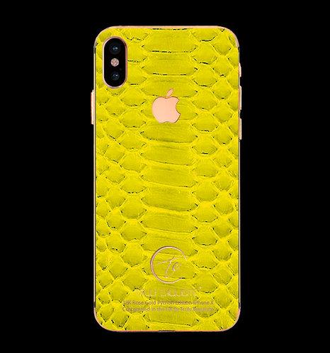 18K Rose Gold Yellow Python Edition iPhone X