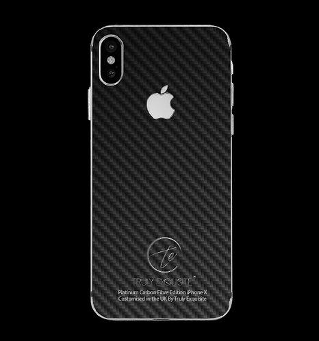 Platinum Plated Carbon Fibre iPhone X