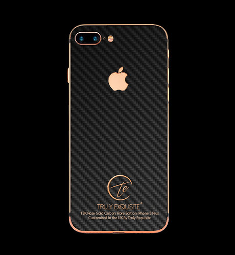 18K Rose Gold Carbon Fibre iPhone 8 plus