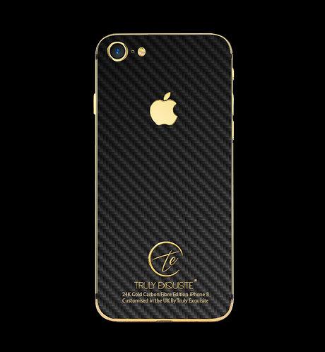 24K Gold Carbon Fibre iPhone 8