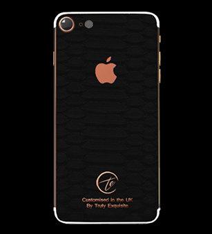 18K Rose Gold Black Python Edition iPhone 7