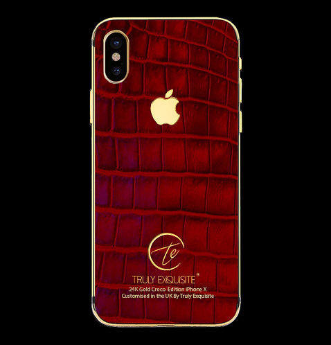 24K Gold Red Croco Edition iPhone X