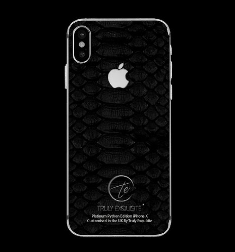 Platinum Black Python Edition iPhone X
