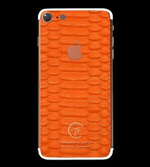 18K Rose Gold Orange Python Edition iPhone 7