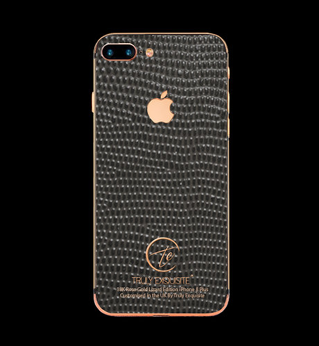 18K Rose Gold Grey Lizard Edition iPhone 8 Plus