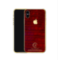 24K Gold red croco iPhone X.png