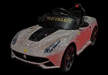 Swarovski Crystal Ferrari F12 ride on car