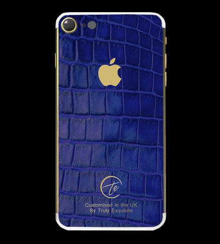 24K Gold Blue Croco Edition iPhone 7