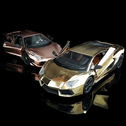 24K Gold & 18K Rose Gold Diecast supercars