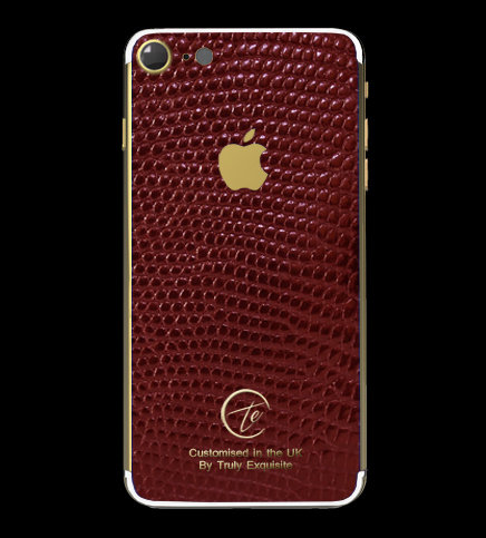 24K Gold Red Lizard Edition iPhone 7