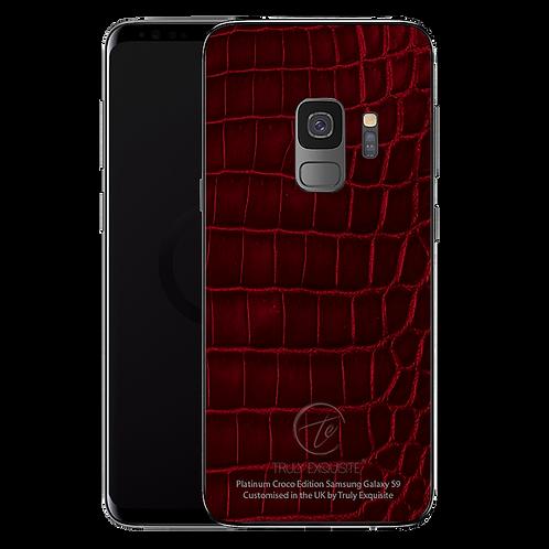 Platinum Red Croco Leather Samsung S9